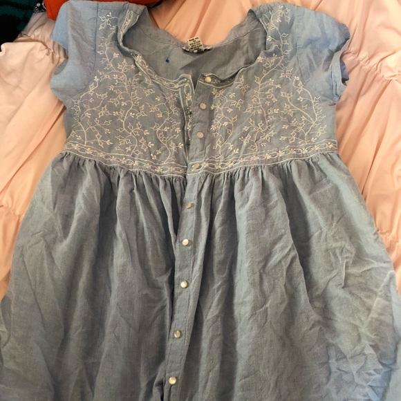 Dresses & Skirts - 3 for $12 Light Blue Button Up Dress